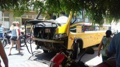 Acidente entre ambulância do SAMU e ônibus escolar (Foto: Reprodução / Whatsapp)