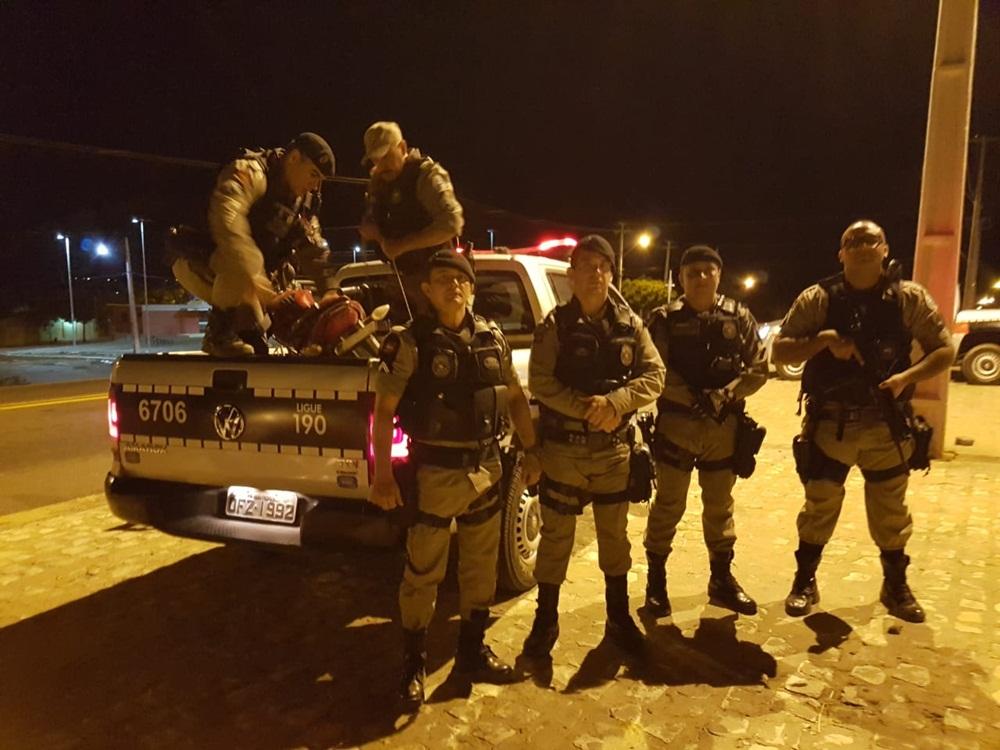 Polícia Militar faz apreensão durante operação em Uiraúna (Foto: Polícia Militar)