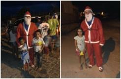 Empresário distribuiu presentes de natal para as crianças carentes