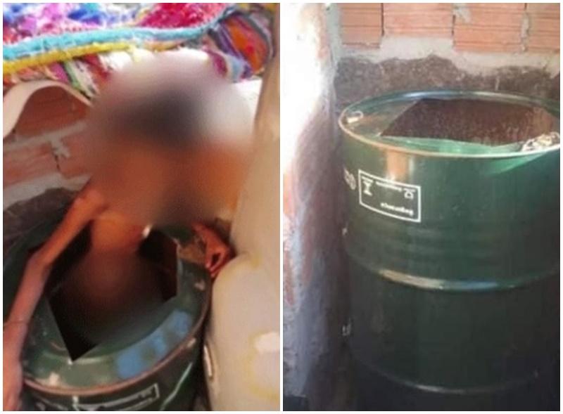 criança-barril-campinas - Diário do Sertão
