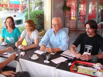 Cristina Tomasín, Teresa Acedo, Concejal Debernardi e Ignacio Pizarro.