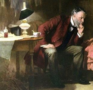 "Fragmento de la obra ""El Doctor"", del pintor Samuel Luke Fildes (1891)."