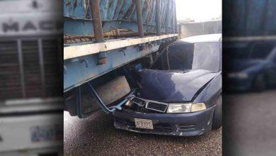 Photo of Colisión entre gandola y vehículo particular no dejó lesionados