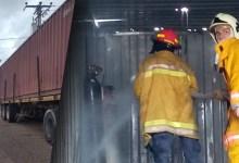Photo of Sofocan incendio en la parte interna de un container en la calle 20 sur