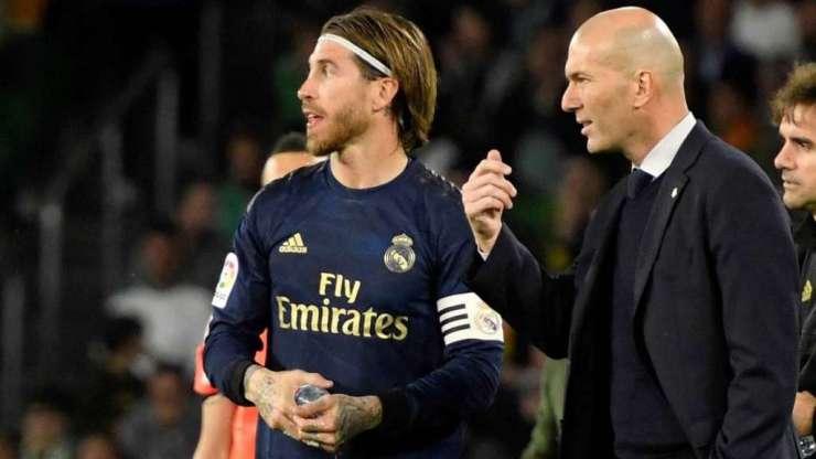 Sergio Ramos y Zinedine Zidane
