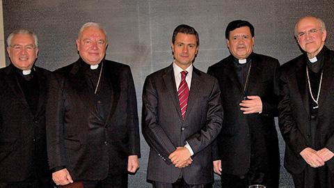 Peña Nieto con los cardenales mexicanos en Roma