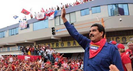 """El presidente Nicolás Maduro pidió ayer al chavismo castigar """"con votos"""" la guerra económica AVN"""