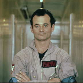 """Bill Murray, uno de los protagonistas originales de """"Ghostbusters"""",aparecerá en la nueva película de la popular saga cinematográfica que se estrenará el en julio del próximo año"""