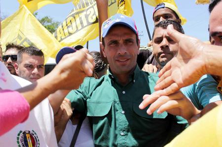 Por cuarto fin de semana seguido, Capriles recorre la nación.