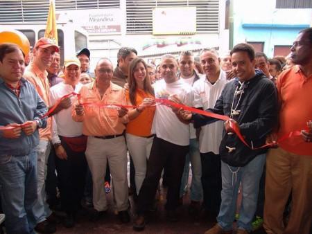 A la inauguración asistieron representantes de VP de todos los Altos Mirandinos y el estado Miranda