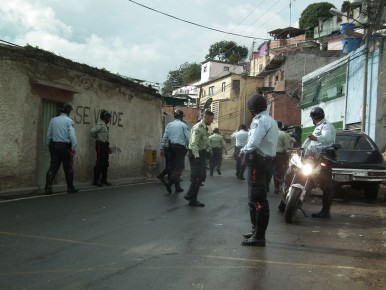 El sector fue tomado por los funcionarios de la policía municipal