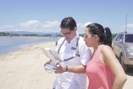 Trabajo de grabación en el Parque Nacional Laguna de Tacarigua