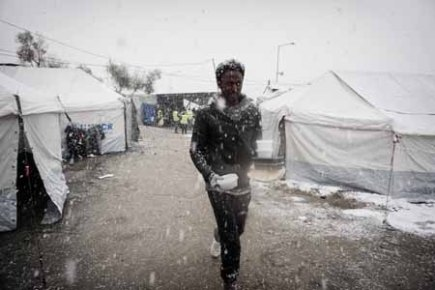 GREECE-EUROPE-MIGRANTS-WEATHER