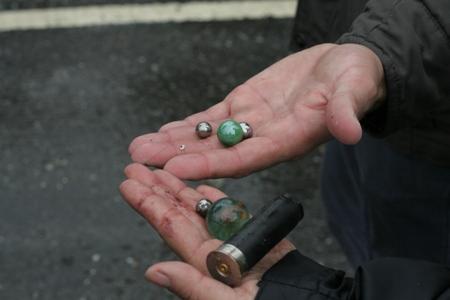 Manifestantes aseguraron que GNB disparaba metras y balines de metal