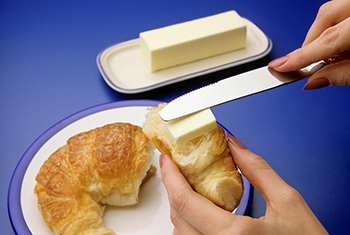 Croissant with butter