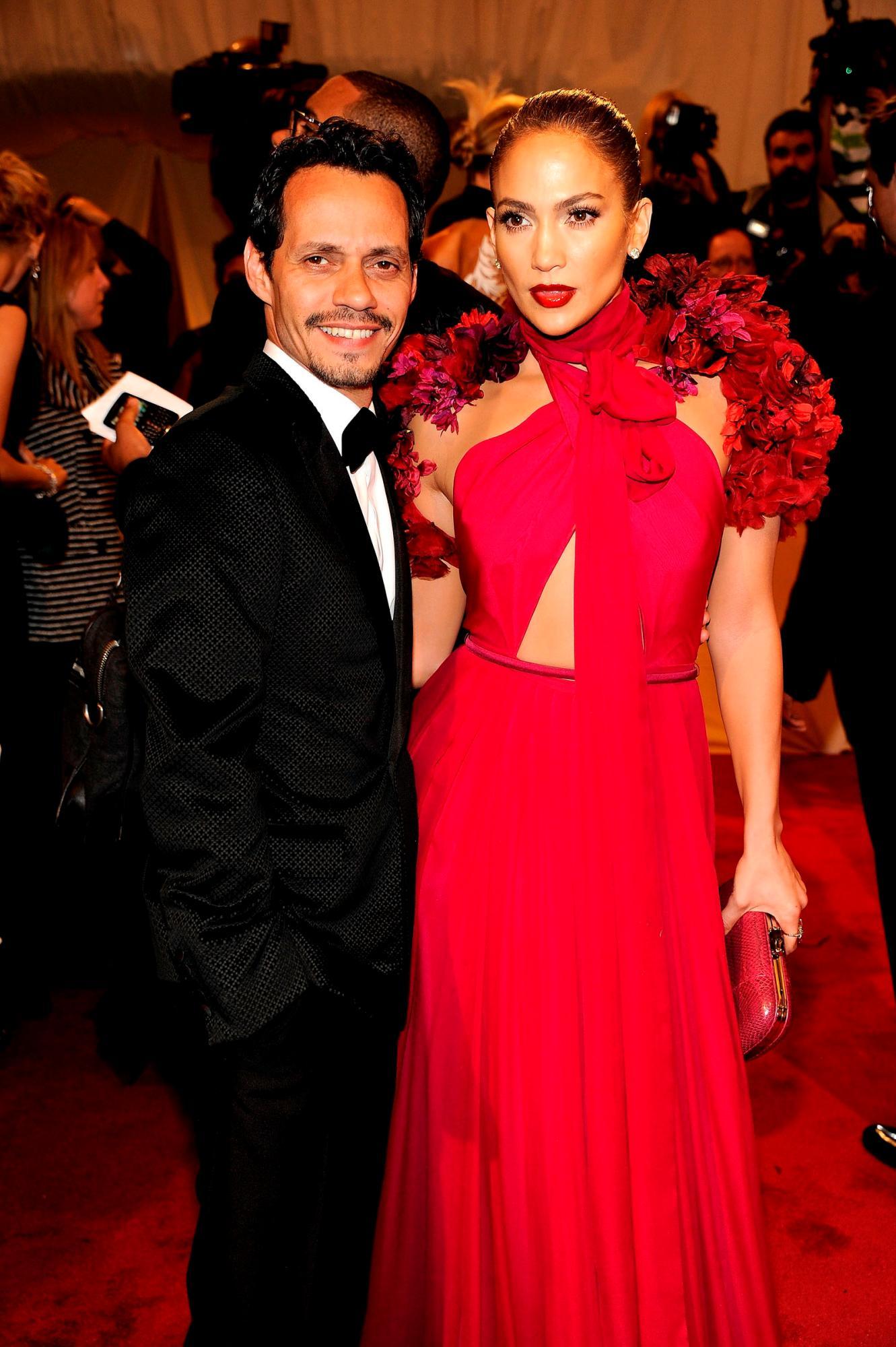 Marc Anthony y Jennifer López en la Met Gala en el año 2011.
