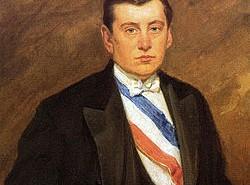 Retrato del Presidente Arturo Alessandri, durante su primer periodo presidencial.