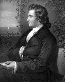 Retrato de Goethe (1749-1832) ejecutando el signo de fe