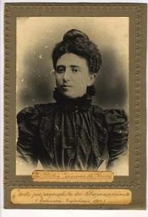 Belén Zárraga y Ferrero, iniciada en la logia Severidad nº 88 de Valencia en noviembre de 1896 (Gran Oriente Ibérico)