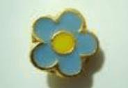 """Emblema o pin de la Masonería que representa la flor """"No me Olvides"""""""