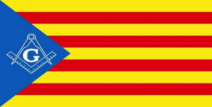 Cataluña bandera masonería