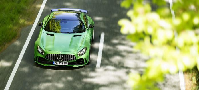 Mercedes Amg Gt R Verde Limites Velocidad Autobahn