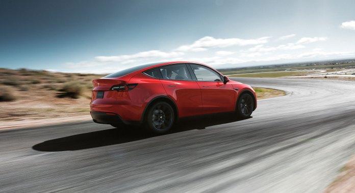 Tesla Model Y 2019 Rojo Trasera Exterior