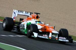Luiz Razia testou hoje pela Sahara Force India F1 com o modelo VJM05 em Magny Cours, França (Foto fornecida por Force India)