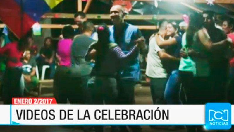 Image result for baile de observadores de la Onu con guerrilleras