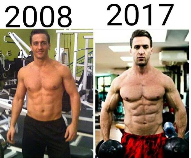 """Marcelo Santana, o """"Personal Trainer das Celebridades"""", mostra mudança no seu corpo nos últimos anos e exalta """"maturidade muscular"""""""