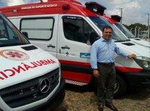 Vice-prefeito Márcio da Farmácia participou da cerimônia da entrega da ambulância em Sorocaba. Thiago Benedetti/PMD