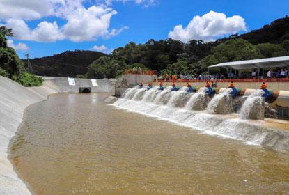 Alckmin inaugura obra que amplia segurança hídrica em SP e no RJ