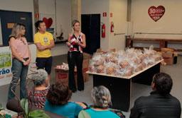 Fundo Social de Ribeirão Pires entrega alimentos para entidades