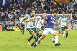 Palmeiras perde e vai pressionado para clássico