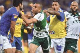 Cruzeiro elimina o Palmeiras, e partida termina em briga