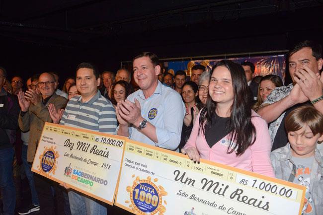Sexta premiação do programa Nota 1.000 contempla mais 91 moradores de São Bernardo