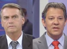 Datafolha mostra queda na diferença entre Bolsonaro e Haddad
