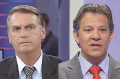 Datafolha mostra Bolsonaro com 56% e Haddad com 44%; diferença cai 6 pontos