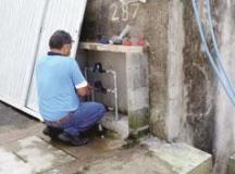 Semasa regulariza ligações de água no Núcleo Cruzado