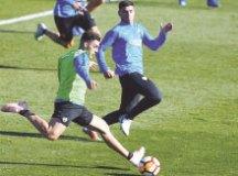 Jogadores do Boca Juniors treinam em Madri antes da final. Foto: Divulgação/Conmebol