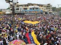 Protesto contra o governo de  Nicolas Maduro. Foto: Twitter