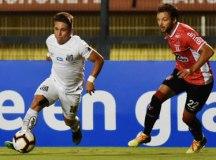 Soteldo fez o gol de empate, mas não foi suficiente para o Santos obter a vaga. Foto: Ivan Storti/Santos FC