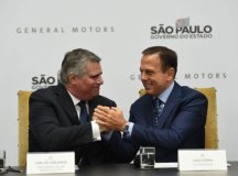 Zarlenga e Doria fizeram o anúncio no Palácio dos Bandeirantes. Foto: Divulgação/GESP