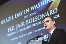 Nos EUA, Jair Bolsonaro critica 'defensores da tirania'