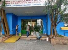 Escola recebeu pintura nova para receber alunos nesta segunda-feira. Foto: Governo do Estado