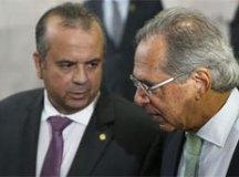 Marinho e o ministro da Economia, Paulo Guedes. Foto: Marcelo Camargo/Agência Brasil