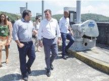 Prefeitos de Cubatão e São Bernardo vistoriaram o sistema. Foto: Gabriel Inamine/PMSBC