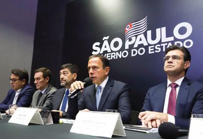Em balanço de cem dias de governo, Doria anuncia que vai adiantar renovação de contratos de rodovias