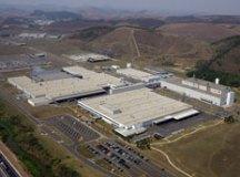 Vista aérea da fábrica da Mercedes-Benz em Juiz de Fora. Foto: Arquivo