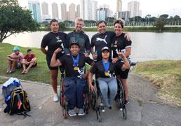 Atletas de São Bernardo brilham na Copa Brasil de Paracanoagem